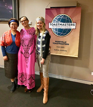 Roseville Toastmasters members celebrating meeting number 1900